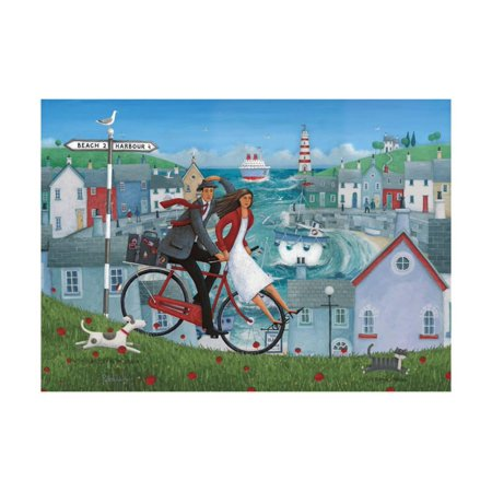 Bicycle Seascape Print Wall Art By Peter Adderley