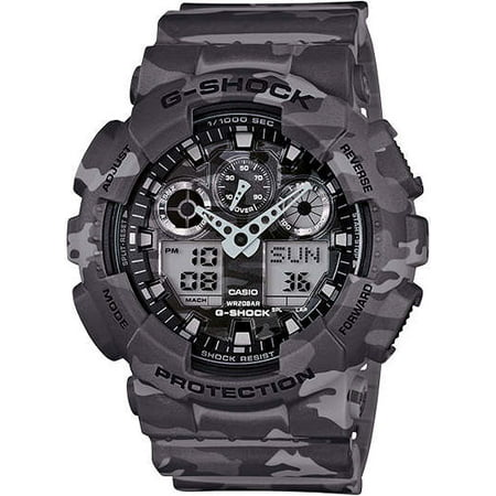 Grey Camouflage G-Shock Military Analog Digital Watch GA100CM-8A