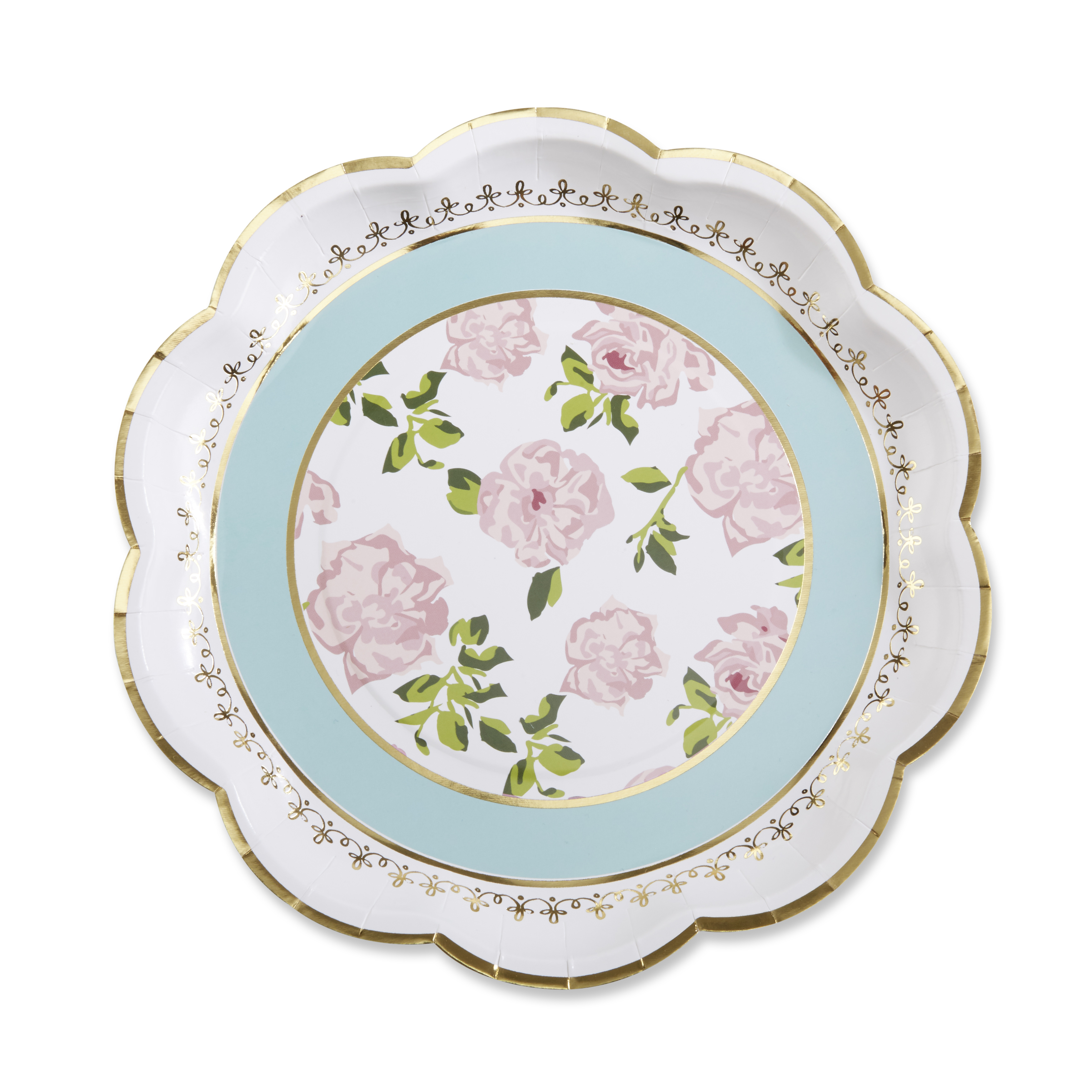 Tea Time Whimsy Paper Plates - Blue (Set of 8)
