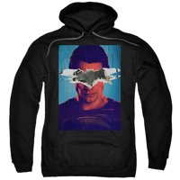 trevco men's batman v superman hoodie sweatshirt, bvs posters black, large