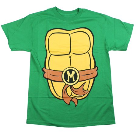 Teenage Mutant Ninja Turtles Mens T-Shirt - Brown Belt Michelanglo Costume Front (70's And 80's Party Costumes)