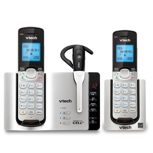 Vtech DS6671-3 DECT 6.0 Connect-to-Cell(TM) 2-Handset Pho...