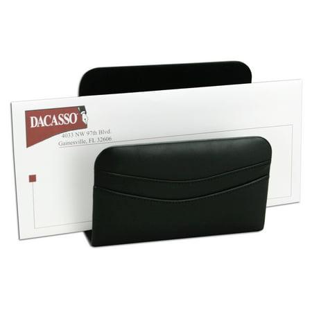Classic Black Leather Letter Holder