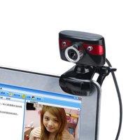 Useful LED lights Webcam HD 12 Megapixels Camera Rotating Stand for Computer PC Laptop