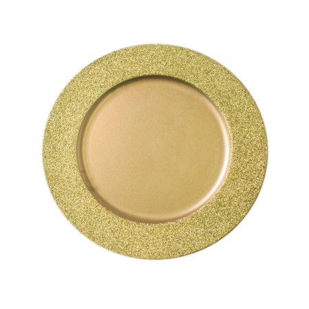 Decorative Glitter Border Charger Plate, 13