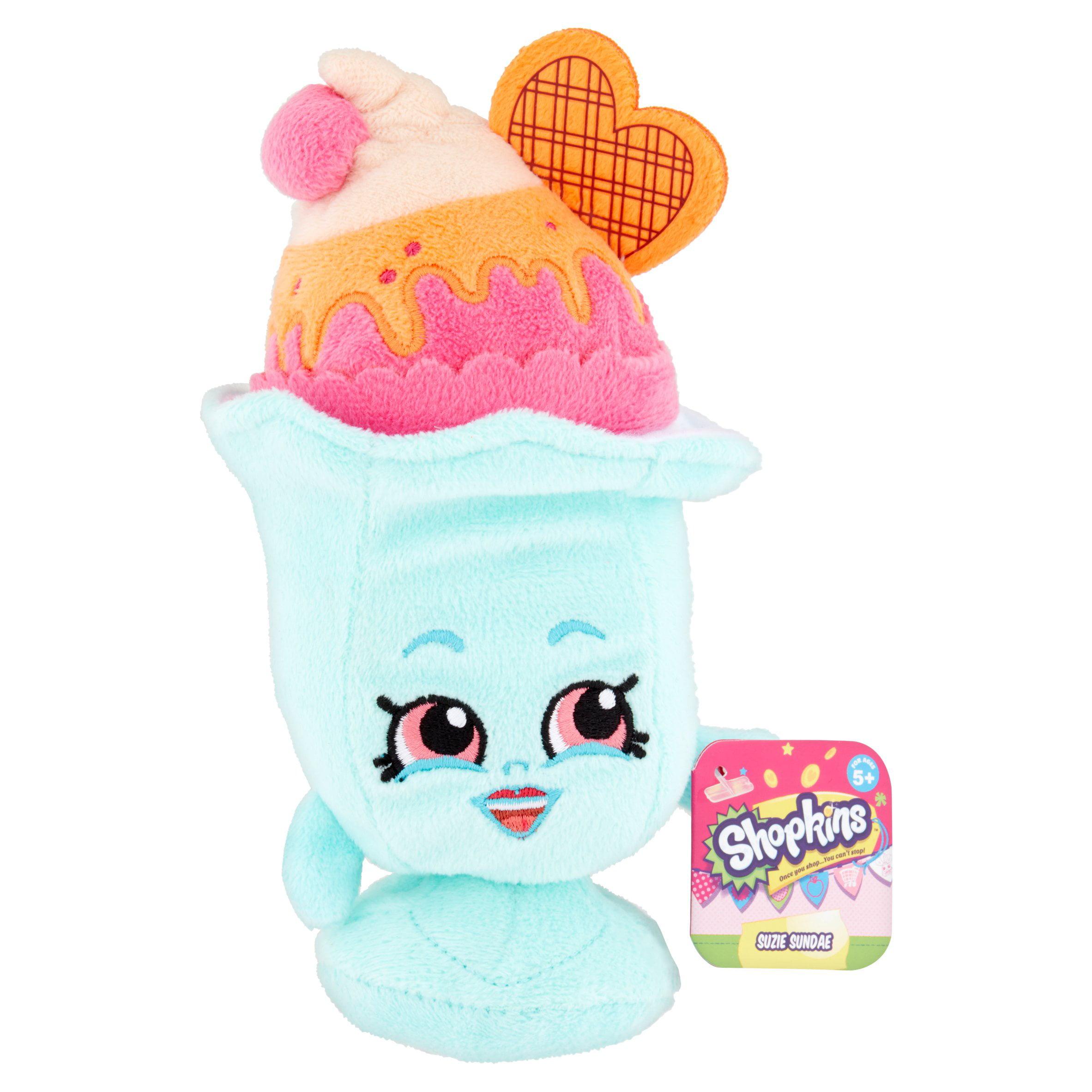Shopkins Bean Plush Suzie Sundae Toy for Ages 5+