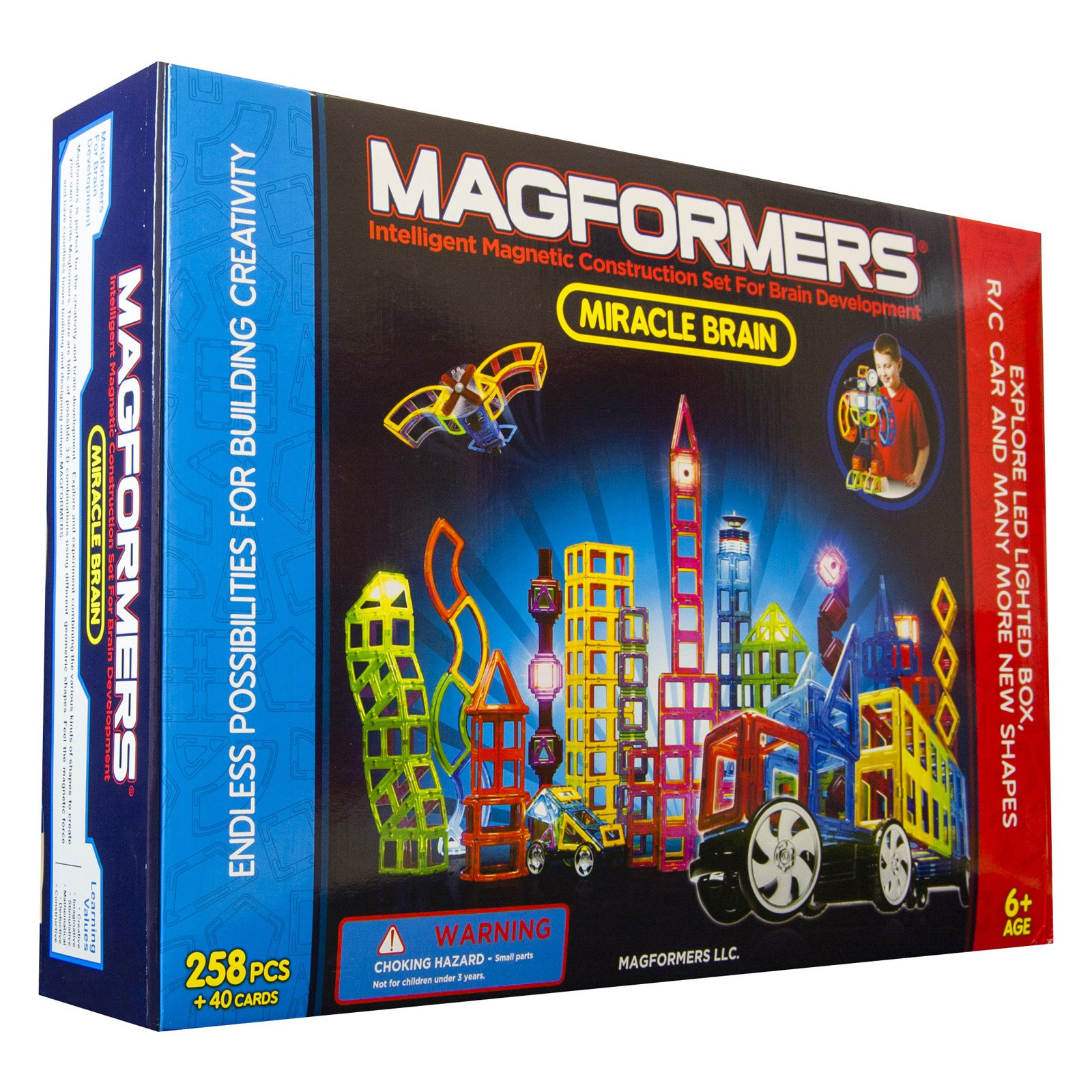 MAGFORMERS Miracle Brain 298-Piece Magnetic Construction Set