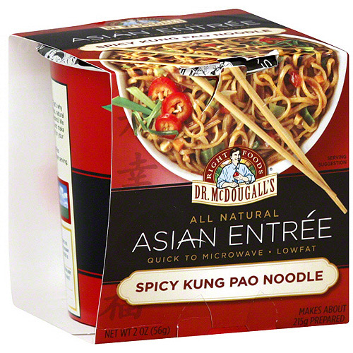 Dr. McDougall's Asian Entrees Spicy Kung Pao Noodles, 2 oz (Pack of 6)