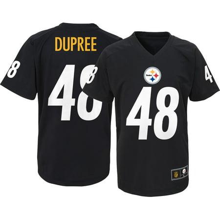 1f7e00398 NFL Team Apparel Youth Pittsburgh Steelers Bud Dupree  48 Black T-Shirt -  Walmart.com
