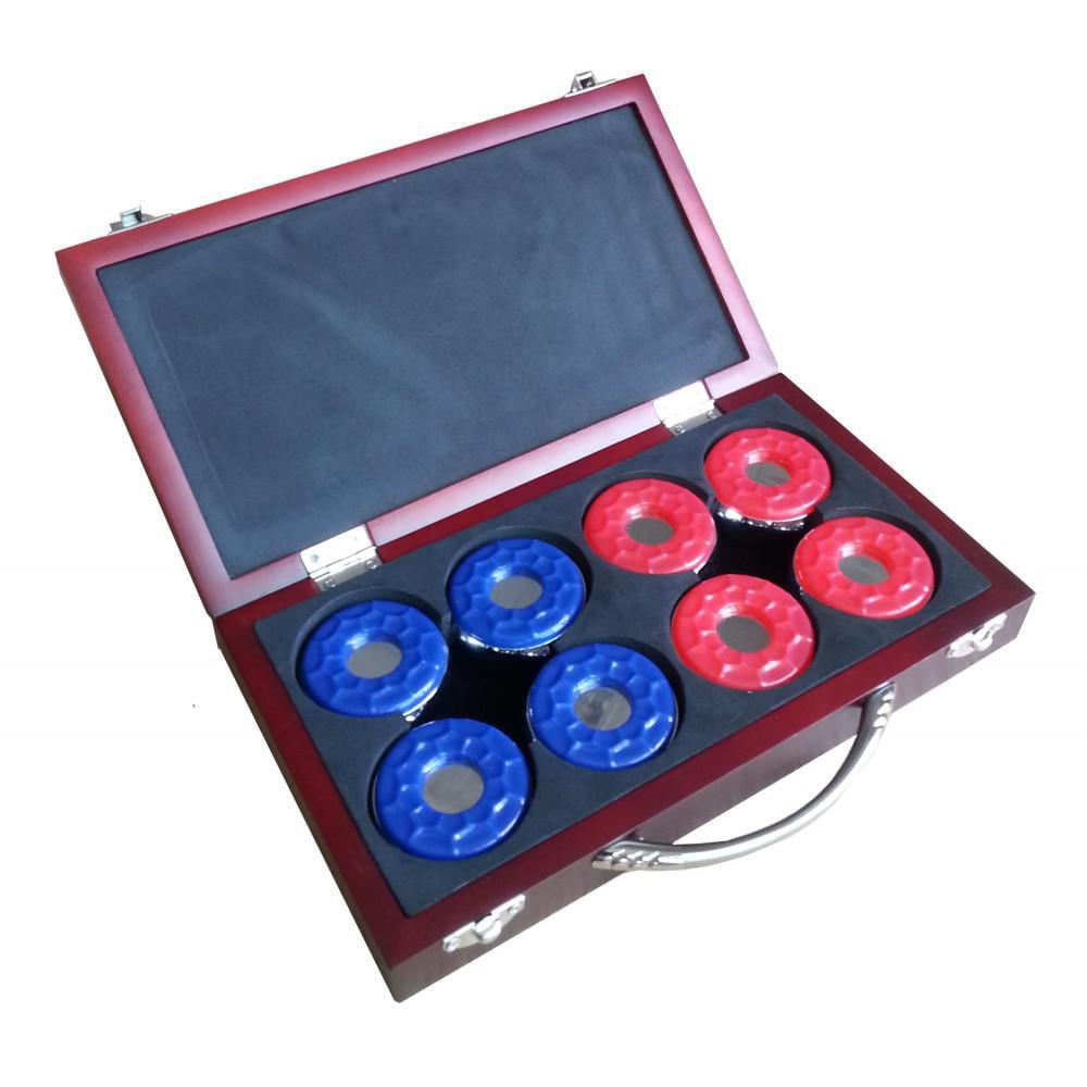 BlueWave Products SHUFFLEBOARDS NG1223 Shuffleboard Pucks W/ Case-Set Of 8