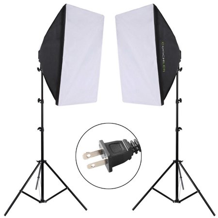(Photography Continuous Photo Video Studio Softbox Lighting Light Kit for Portrait and Film)