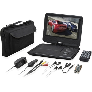 "GPX PD901VPB Portable DVD Player - 9"" Display - 800 x 480 - Black"