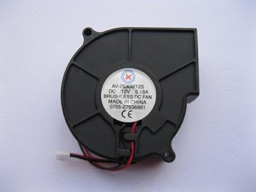 75mm 12V Blower Fan 7530 75 x 30mm Computer Cooling Exhaust Fan 2-pin