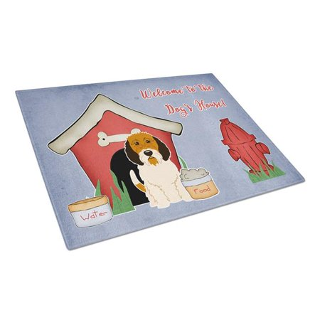 Carolines Treasures BB2833LCB Dog House Collection Petit Basset Griffon Veenden Glass Cutting Board, Large - image 1 of 1