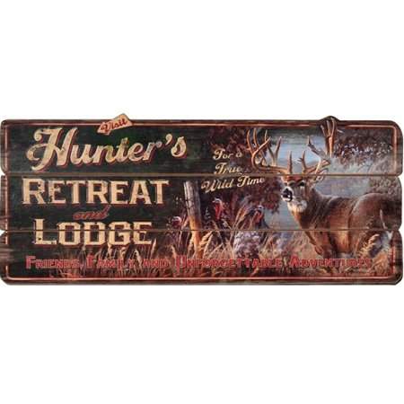 River's Edge Hunter's Retreat Lodge Sign Retreat Wood Sign