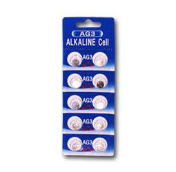 Tenergy : 1 Card: 10pcs AG3 / LR41 1.5V Alkaline Button Cells