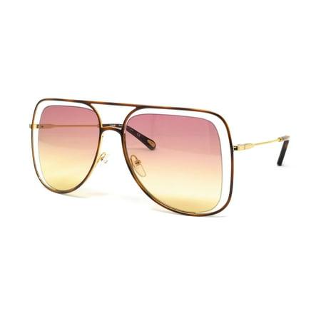 CHLOE Sunglasses CE130S 239 Havana Navigator Women's (Chloe Carolina Sunglasses)