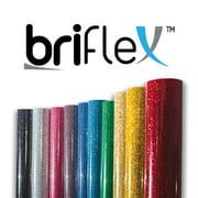 "BriFlex Heat Transfer Glitter Vinyl for T-Shirt and Apparel 20"" x 3' (1 Yard) Iron on HTV-LTPINK"