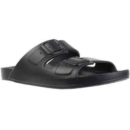 Patent Side Buckle Sandal - Men's 2 Buckle Sandal