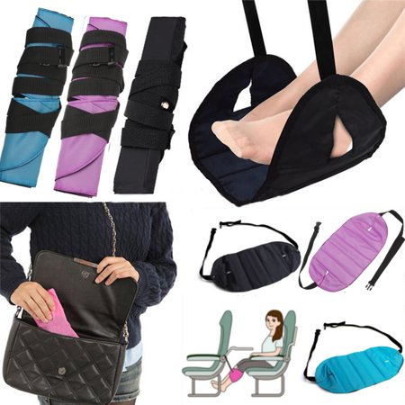 Meigar Folding Travel Foot Rest Airplane Footrest Legs Pillow Help Flight Cushion Extrawide Footrest with Memory Foam foot pillow