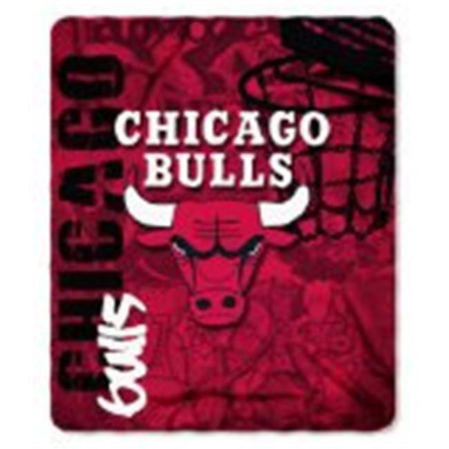 Chicago Bulls Blanket 50x60 Fleece Hard Knock Design - image 1 de 1
