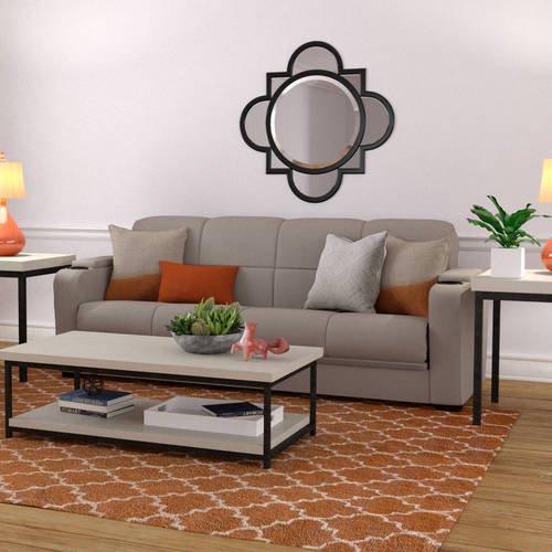 Swell Mainstays Tyler Futon With Storage Sofa Sleeper Bed Multiple Colors Evergreenethics Interior Chair Design Evergreenethicsorg