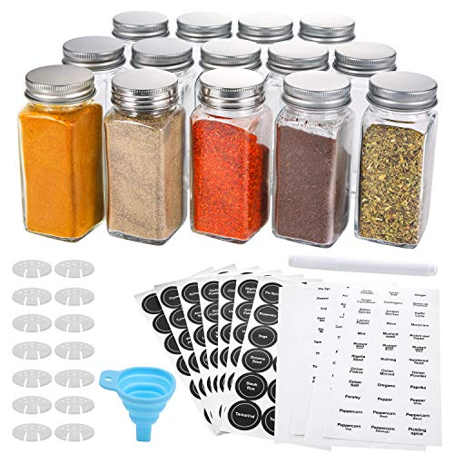 4oz Spice Jars With Lids Mason Herb Storage Container Bottle Kitchen Salt Pepper