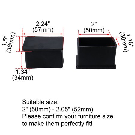 "PVC Leg Cap Ended Tip Pad Feet Cover Floor Protector 80pcs 1.18"" x 2""(30x50mm) - image 3 de 7"