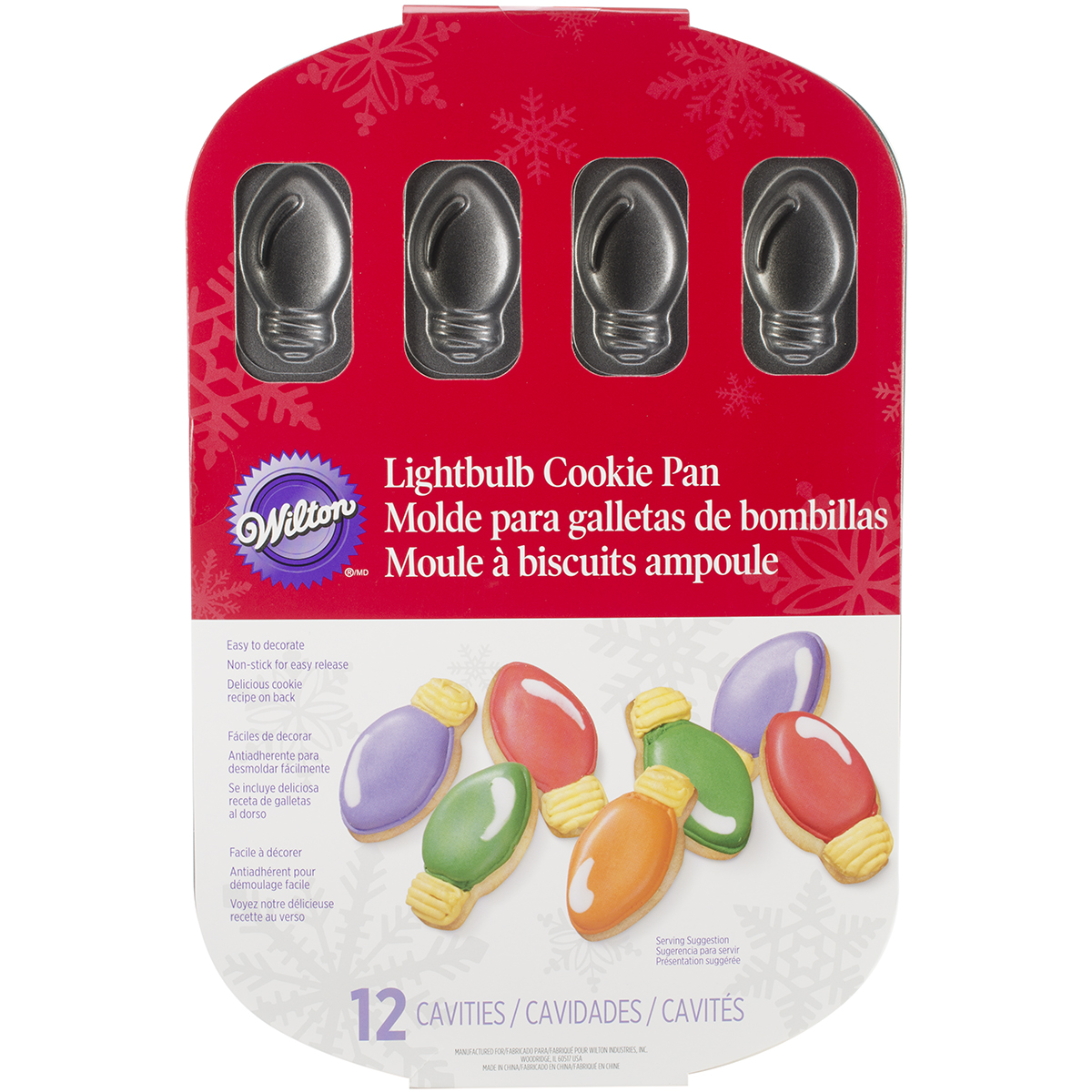 Wilton Industries 2105-1439 12-Cavity Lightbulb Cookie Pan Multi-Colored