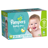 Pampers Baby Dry Diapers Size 4 128.0 ea