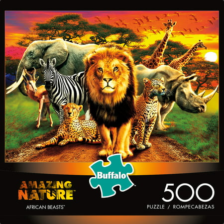 Buffalo Games 500 Piece Puzzle, Amazing Nature: African (500 Piece Map)