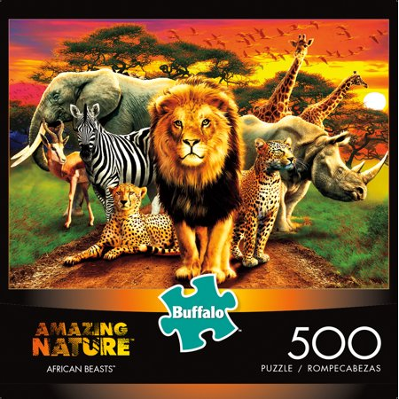Buffalo Games 500 Piece Puzzle, Amazing Nature: African Beasts](Puzzle Games For Toddlers)