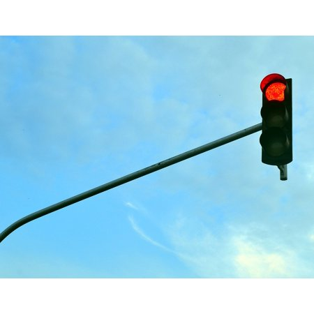 - LAMINATED POSTER Red Light Light Traffic Light Stop Red Countdown Poster Print 24 x 36
