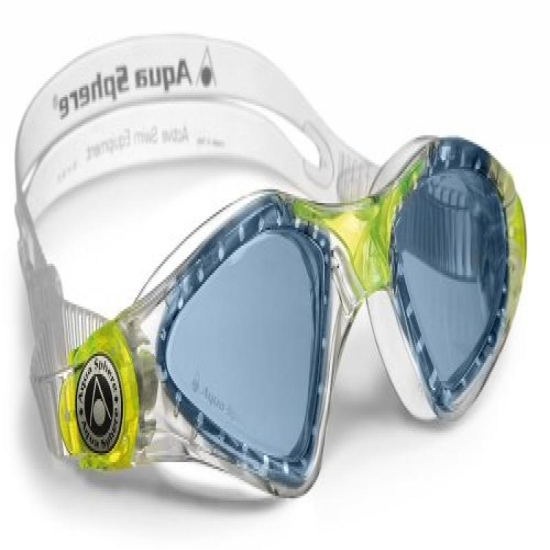 Aqua Sphere Kayenne Junior Goggles, Clear Lime With Blue Lens by AQUASPHERE