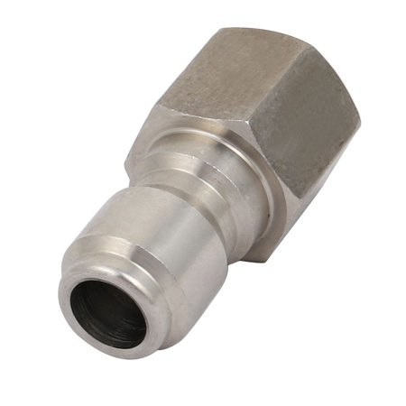 Unique Bargains 3/8BSP Female Thread Stainless Steel High Pressure Pipe Quick Adapter (High Pressure Steel Pipe)