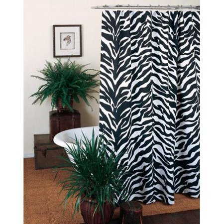 Kimlor Mills Karin Maki Zebra Shower Curtain, Black
