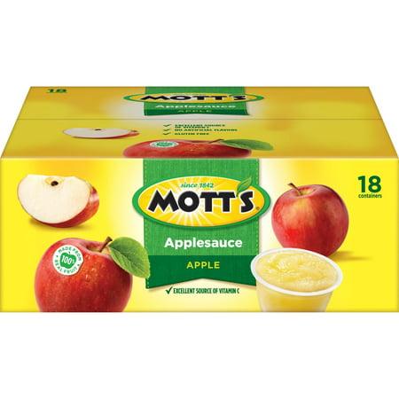 Mott's Applesauce, 4 oz Cups, 18 - Motts Healthy Harvest Applesauce