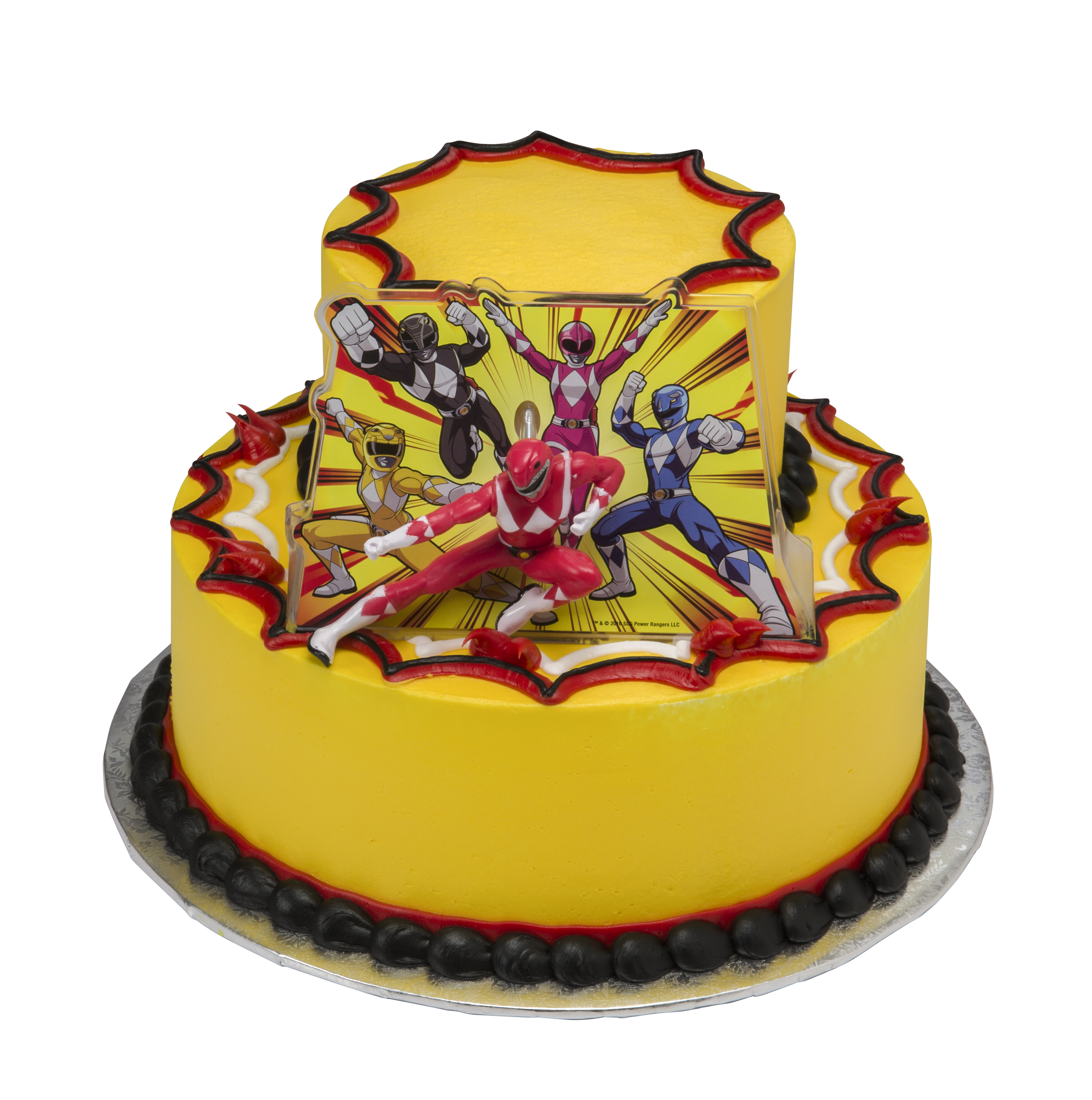Remarkable Power Rangers Its Morphin Time Two Tier Cake Walmart Com Birthday Cards Printable Opercafe Filternl