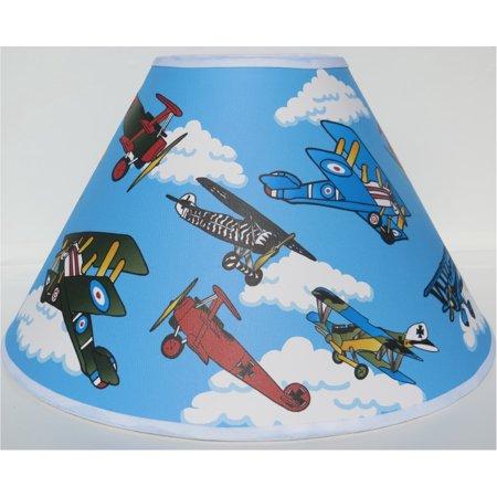Vintage Airplane Lamp Shades / Air Plane Nursery -