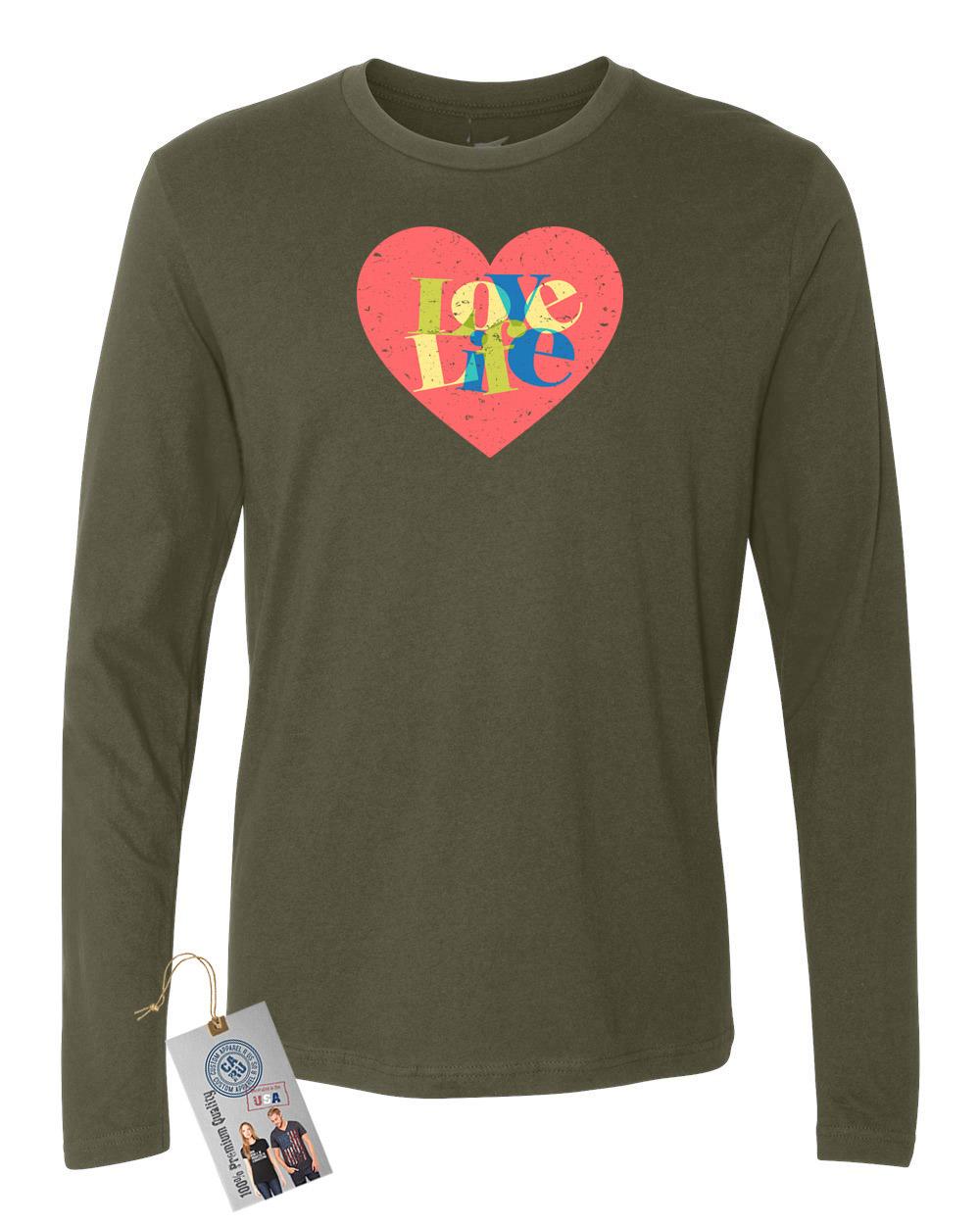 f77cedb983d Love Life Colorful Heart Summer Mens Long Sleeve Shirt   Magnet ...