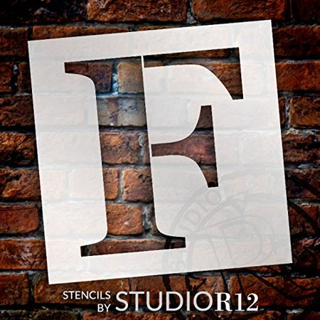 Letter Addressing Stencil.Classic Serif Letter Stencil F 12 Stcl1719 3 By Studior12