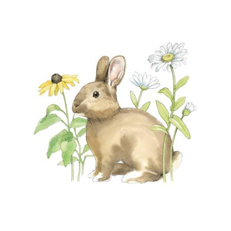 Wildflower Bunnies II Sq Print Wall Art By Beth Grove
