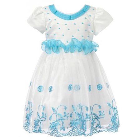 Richie House Girls' Dress with Flowers RH1388