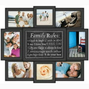 Malden Family Rules 8 Slot 4'' x 6'' Picture Frame