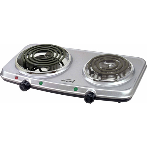Brentwood 1440W Double Burner, Silver