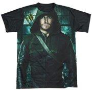 Arrow - Two Sides - Short Sleeve Black Back Shirt - Small