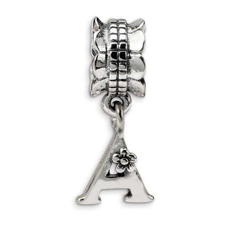 925 Sterling Silver Charm For Bracelet Letter A Dangle Bead Alphabet