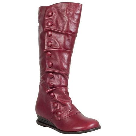 dd7c389ab2252 Miz Mooz - miz mooz bloom wide calf women's wedge boot - Walmart.com