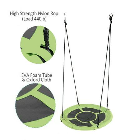 UBesGoo 40In Saucer Tree Swing Round Outdoor Nest Spinner Swing Durable Steel Frame for Kids ()