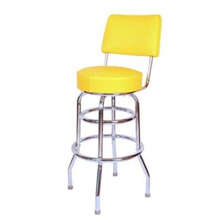 Richardson 30' Swivel Stool - richardson seating corp 1958yel 1958- 30 in. floridian swivel bar stool, yellow,  - chrome - yellow